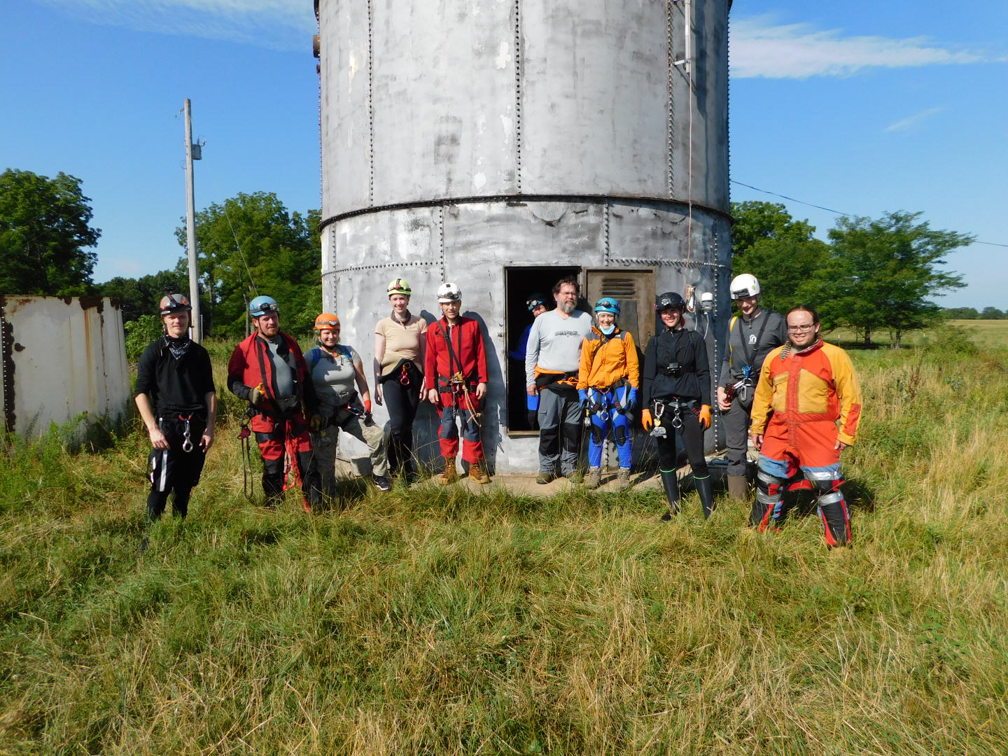 Photo of caving group 11 July 2020
